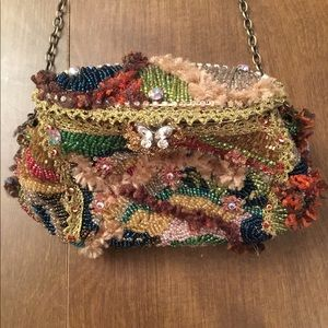 Mary Frances jewel toned beaded evening bag